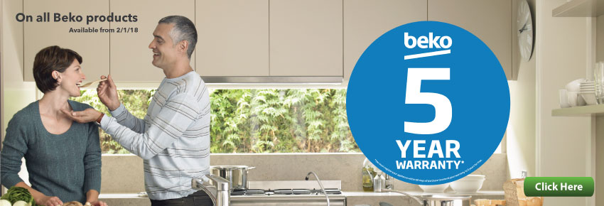 BEKO 5 Year Warranty