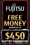 Fujitsu Winter Free Money Promotion