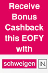 Schweigen EOFY Cashback