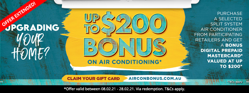 Air Con Bonus Gift Card