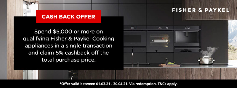 Fisher & Paykel Cooking Appliance Cash Back Offer