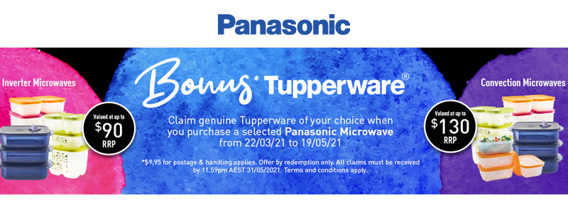 Panasonic Bonus Tupperware Promotion