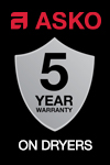 ASKO Bonus Extended Warranty, Complimentary Delivery & Installation - Dryers