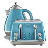 Delonghi Icona Capitals Kettle & Toaster Lisbon Azure Pack