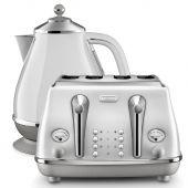 Delonghi Icona Capitals Kettle & Toaster Sydney White Pack