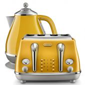 Delonghi Icona Capitals Kettle & Toaster Rome Yellow Pack