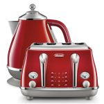 Delonghi Icona Capitals Kettle & Toaster Tokyo Red Pack
