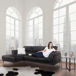 Torino Valentina Black Leather Lounge