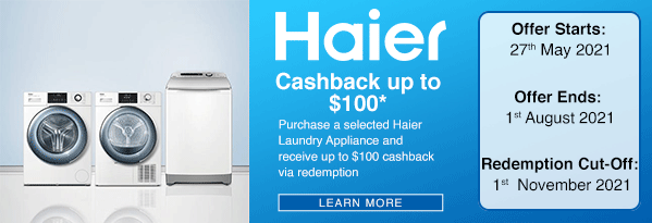 Haier Cashback Up To $100