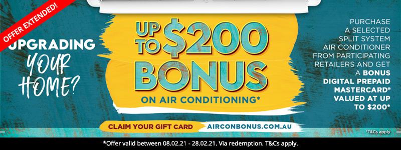 Air Con Bonus Gift Card