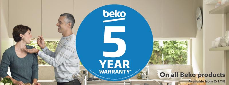 BEKO Appliance 5 Year Warranty